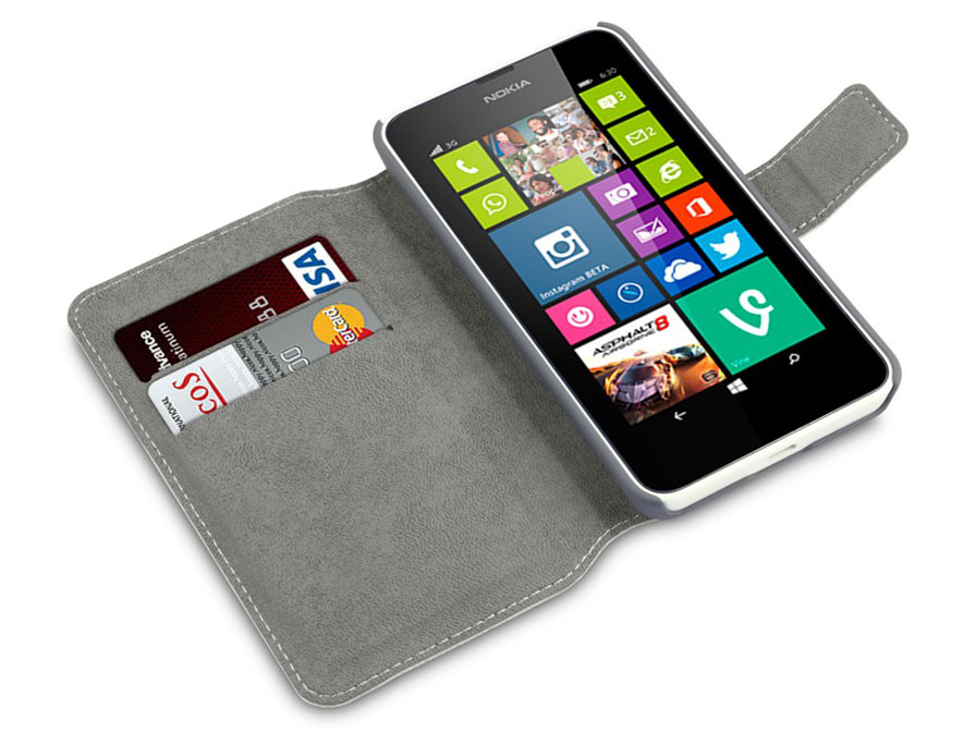 Covert UltraSlim Book Case - Hoesje voor Nokia Lumia 630/635