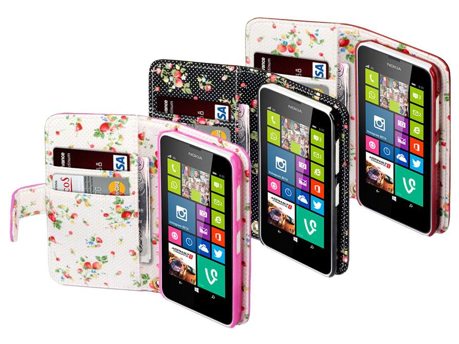 Terrapin Flower Wallet Case - Hoesje voor Nokia Lumia 630/635