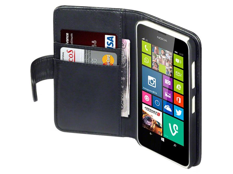 terrapin leather wallet case   hoesje voor nokia lumia 630 635