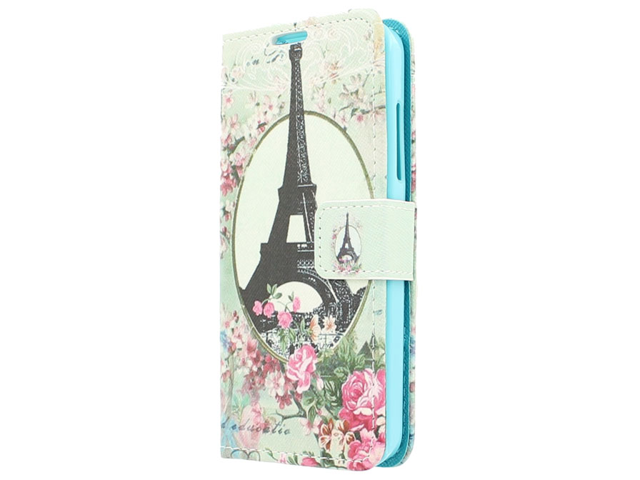 Retro Paris Wallet Case - Nokia Lumia 630/635 hoesje