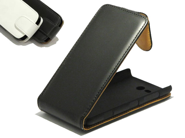 Classic Leather Flip Case - Nokia Lumia 820 Hoesje