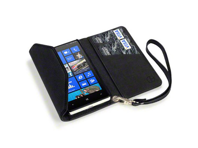 Covert Trifold Purse Wallet Case voor Nokia Lumia 820