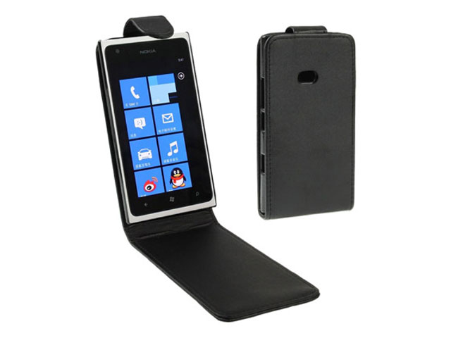 Business Leather Flip Case voor Nokia Lumia 900