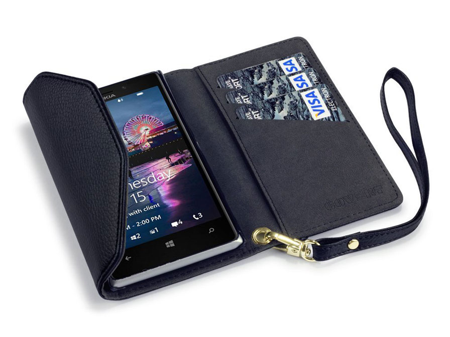 Covert Trifold Purse Wallet Case voor Nokia Lumia 925