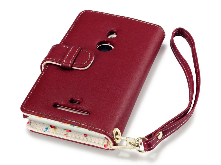 CaseBoutique Flower Wallet Case - Nokia Lumia 925 Hoesje