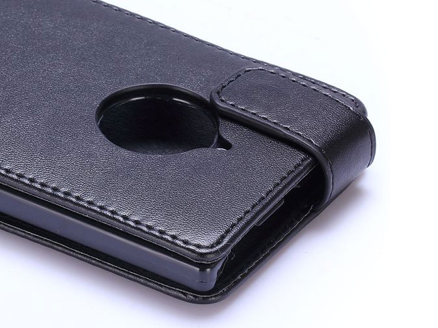 Business Leather Flip Case - Nokia Lumia 830 hoesje