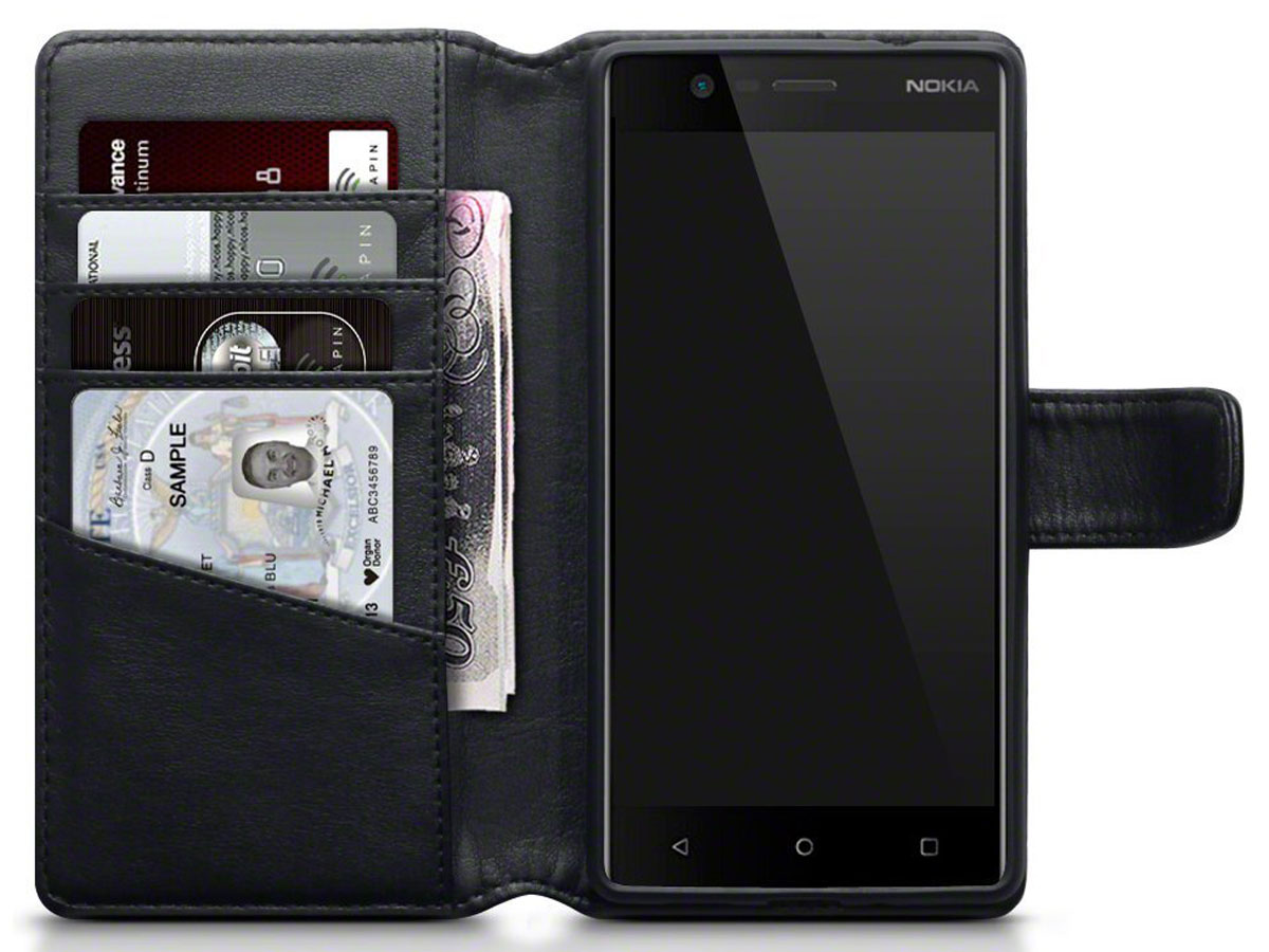 CaseBoutique Leather Bookcase - Leren Nokia 3 Hoesje