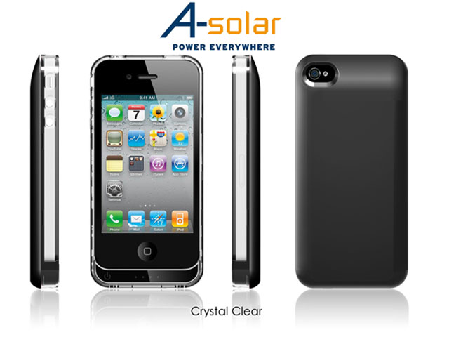 A-Solar Slim Pack 1500mAh Accu Case voor iPhone 4/4S