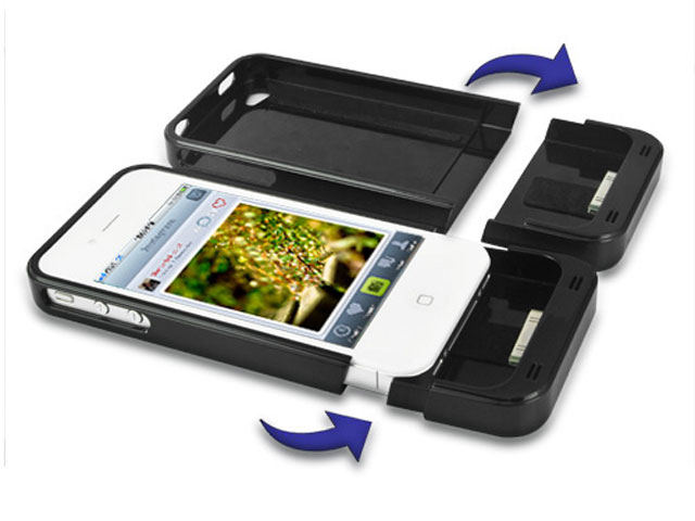 Draadloze oplader met duo-pack iPhone 4/4S oplaadcases