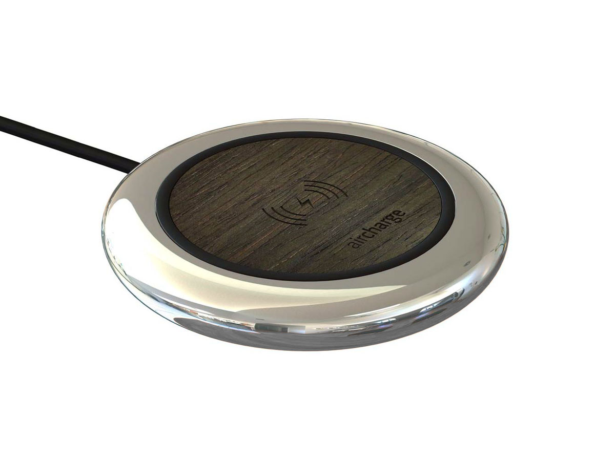 Aircharge Executive Chrome Ebony - Houten QI Oplader