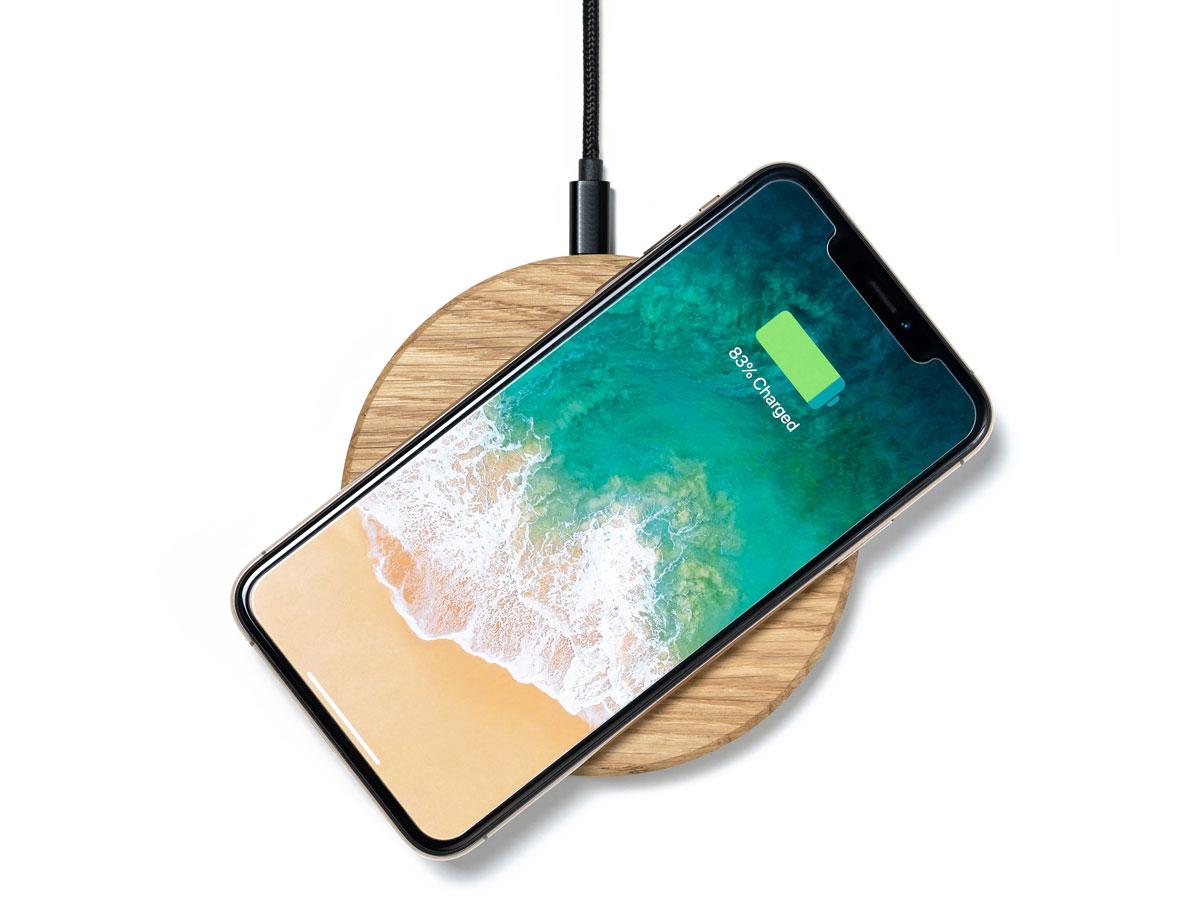 Oakywood Slim Wireless Charger Oak - Draadloze Oplader van Hout