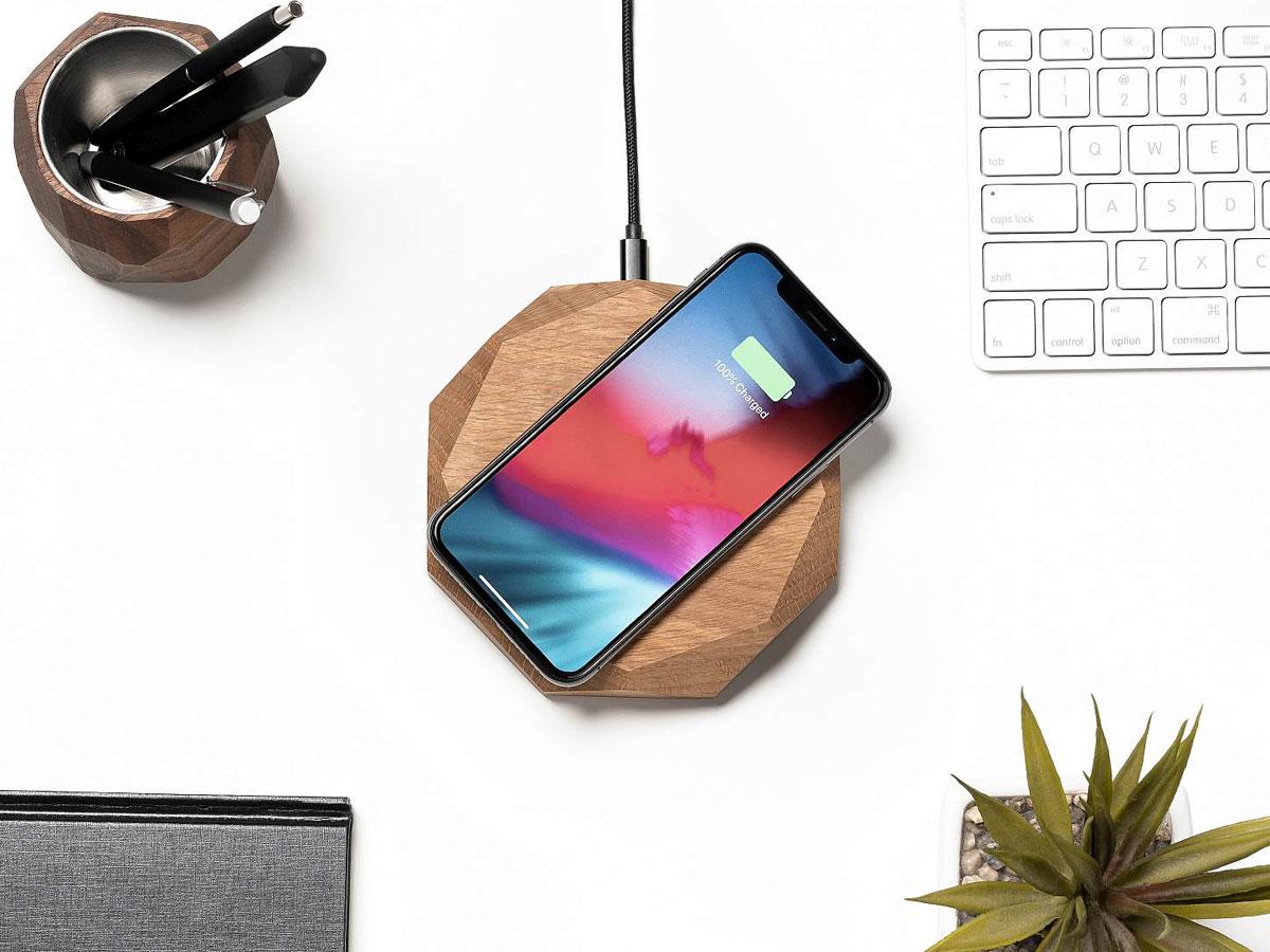 Oakywood Wireless Charger Oak - Draadloze Oplader van Hout