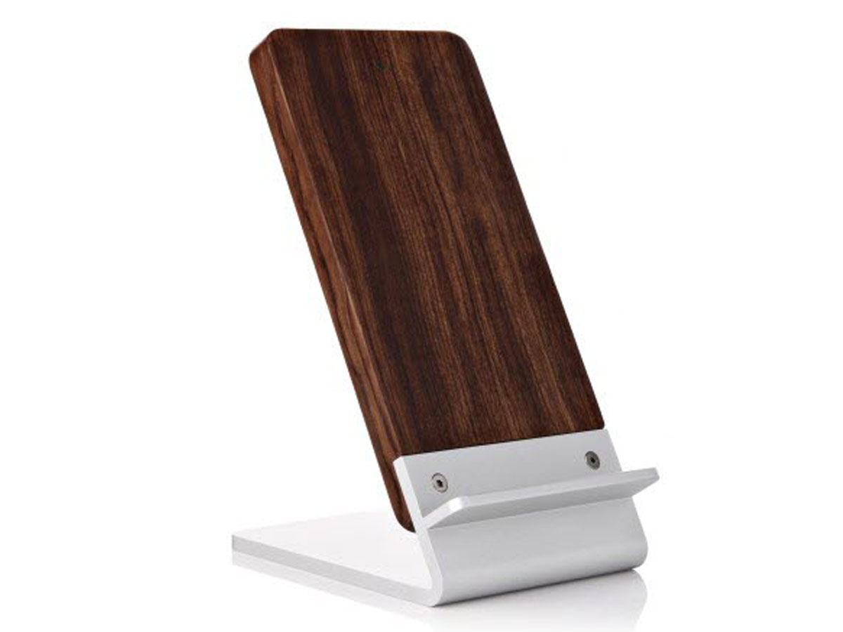 Wooden Wireless Charging Stand - 10W Draadloze Qi Lader