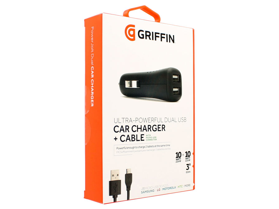 Griffin PowerJolt Dual - Micro-USB Autolader (4.2A)