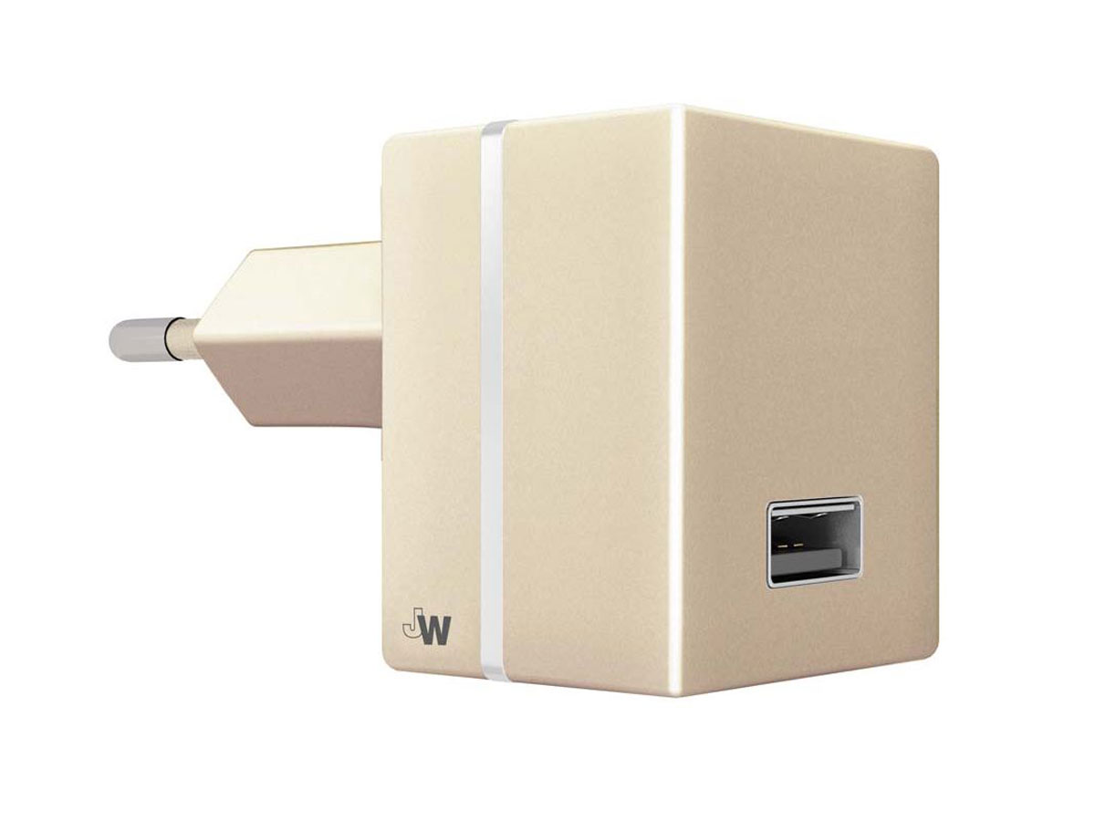 Just Wireless 2.4A USB Oplader Universeel (Goud)