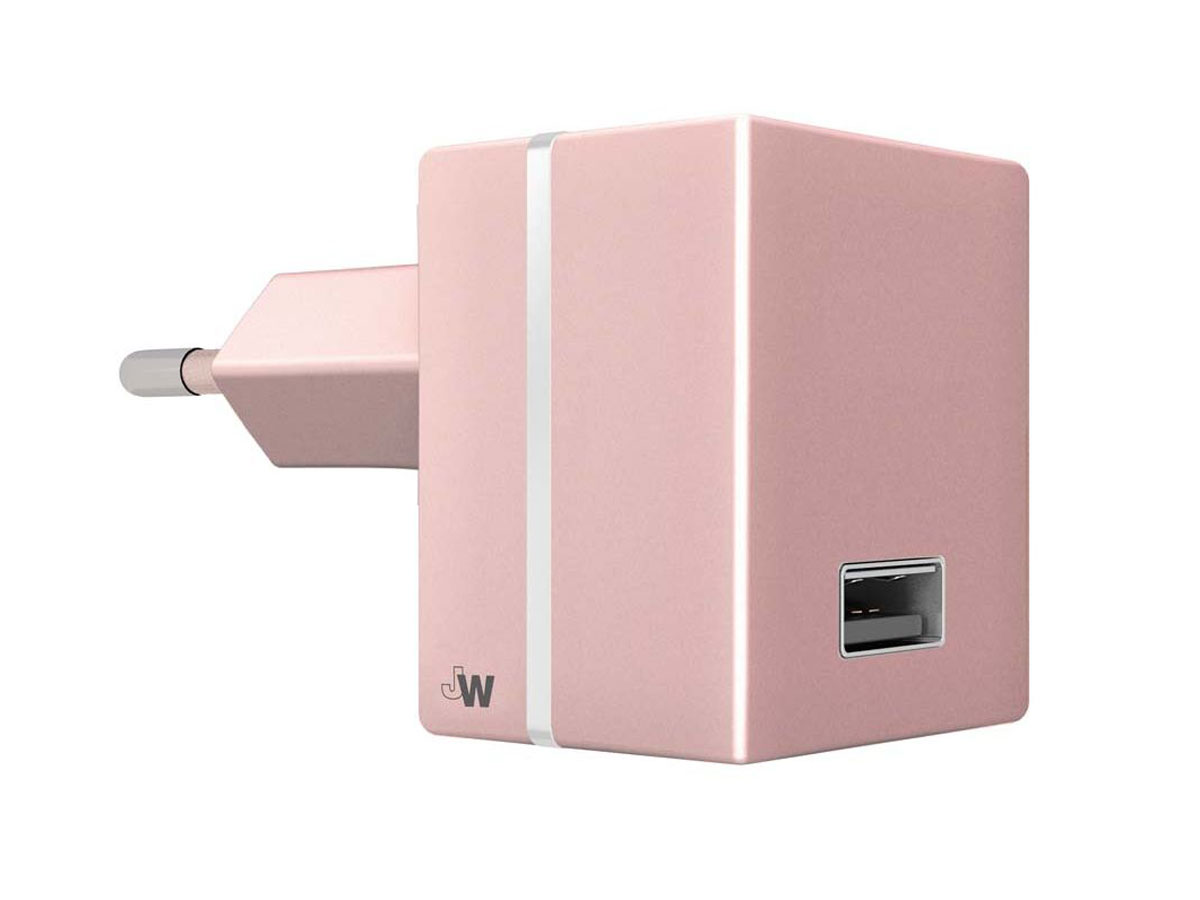 Just Wireless 2.4A USB Oplader Universeel (Rose Goud)
