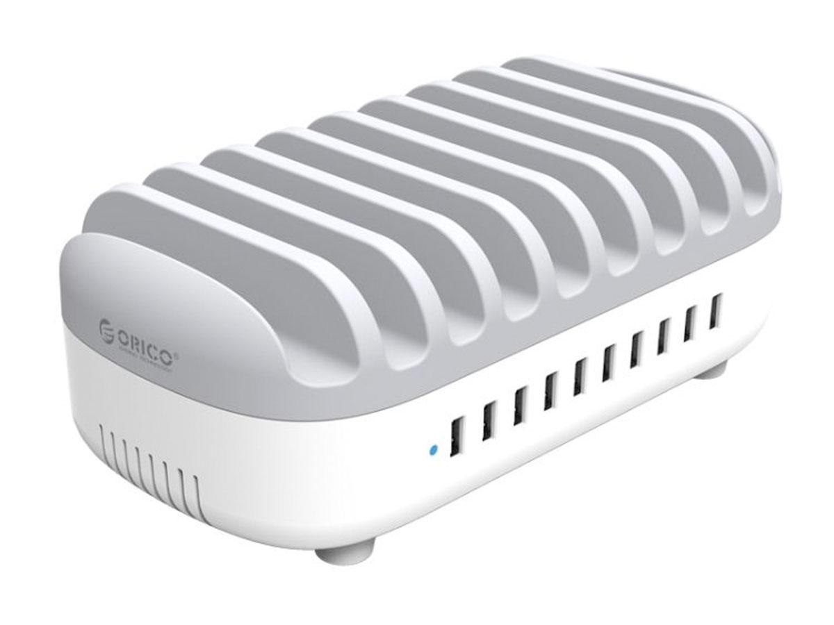 Orico 10-port Charging Docking Station Wit - Oplader voor 10 Devices