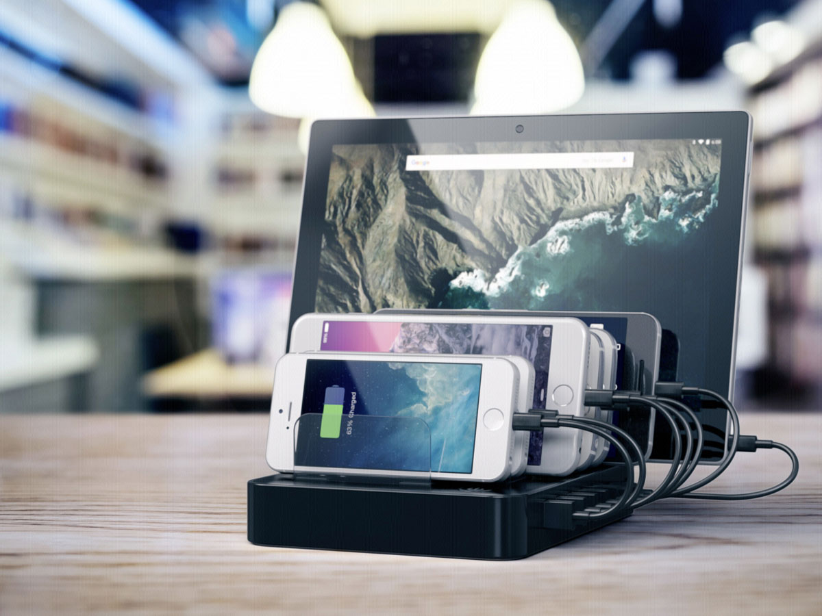 Satechi Charge Dock USB-C Zwart - Oplader voor 7 Apparaten