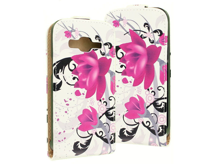 Flower Flip Case - Samsung Galaxy Express 2 hoesje