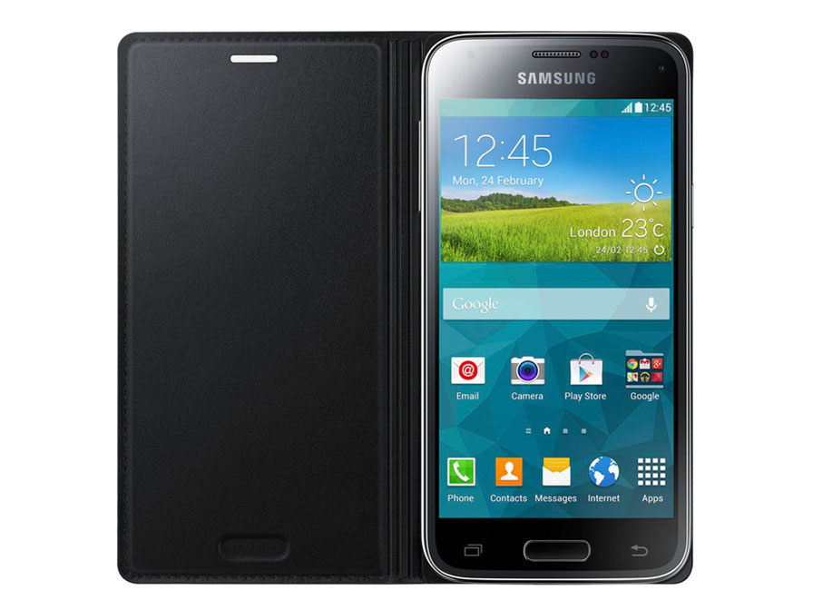 Originele Samsung Galaxy S5 Mini Flip Cover Hoesje (EF-FG800B)