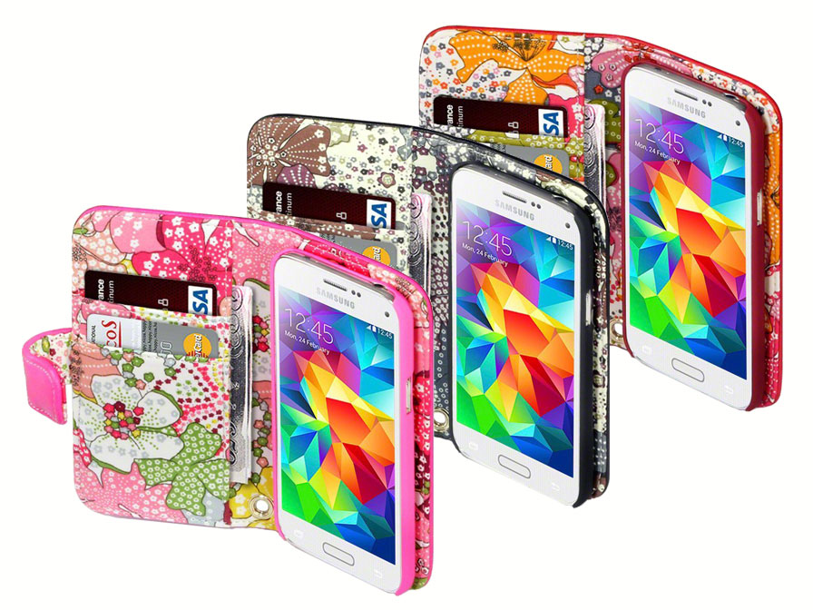 CaseBoutique Lily Wallet Case - Hoesje voor Samsung Galaxy S5 Mini