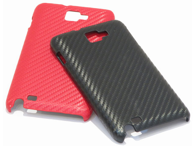 Carbon Back Case - Samsung Galaxy Note N7000 Hoesje