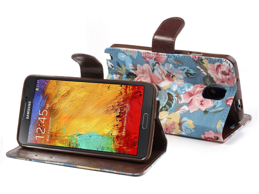 Flower Wallet Case Samsung Galaxy Note 3