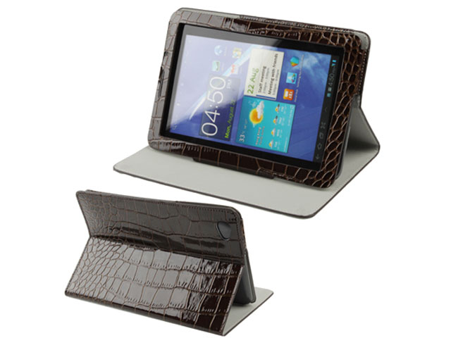 Croco Cinema Stand Case voor Samsung Galaxy Tab 7.7