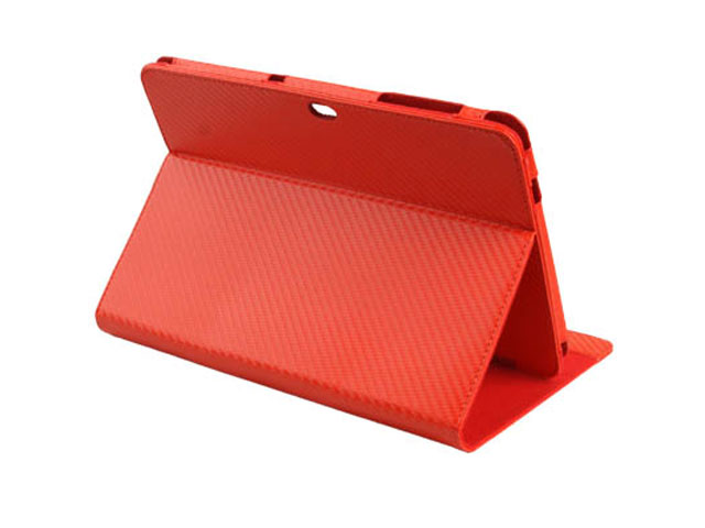Carbon Cinema Stand Case Hoes Samsung Galaxy Tab 10.1 P7500
