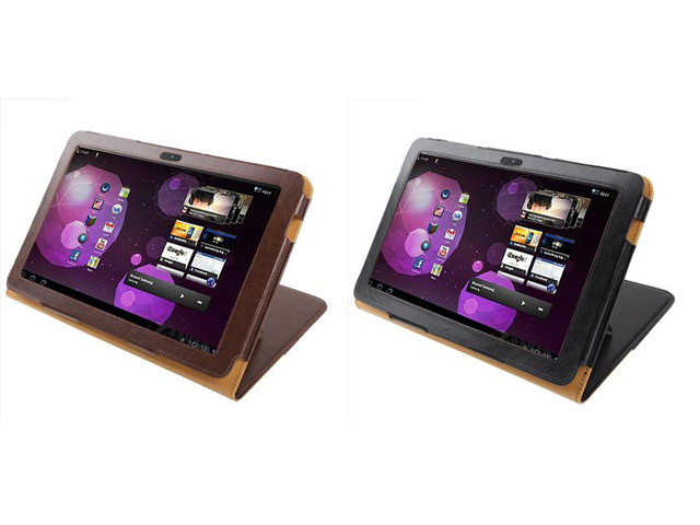 Classic Leren Stand Case Samsung Galaxy Tab 10.1