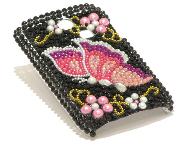 Butterfly Diamond Case Hoes Samsung Ch@t 335