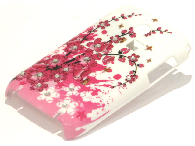Crystals China Blossom Case Samsung Samsung Chat335 S3350