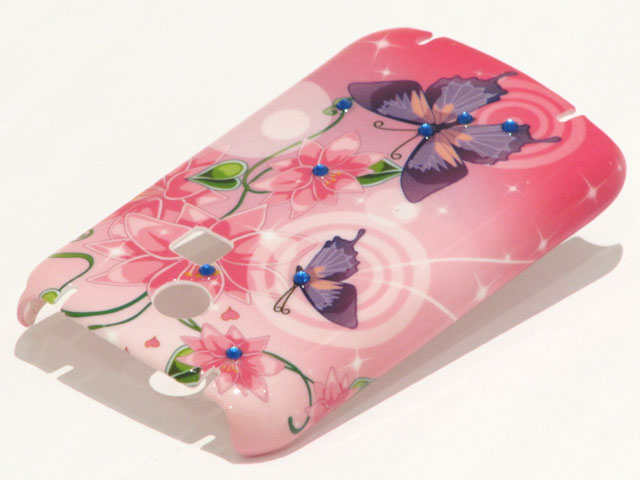 Crystals Sweet Butterflies Case Samsung Chat335 S3350