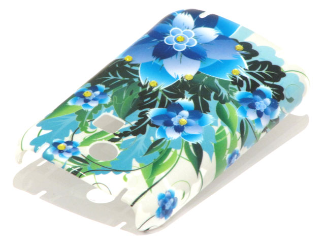 Crystals Tropic Flowers Case Samsung Chat335 S3350