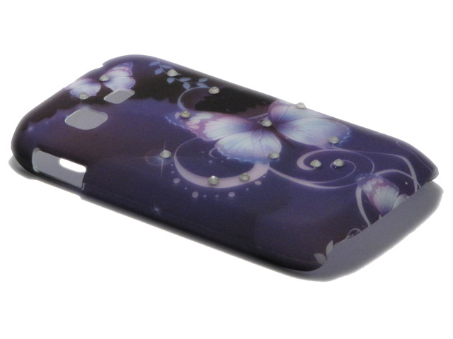 Crystals ''Butterfly Night'' Case Samsung Galaxy Pocket (S5300)
