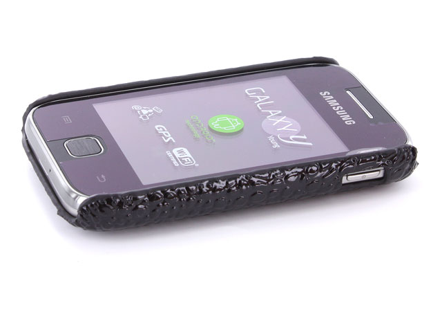 Croco Back Case Hoesje voor Samsung Galaxy Y S5360
