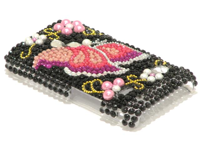 Butterfly Diamond Case Hoes Samsung Galaxy Gio