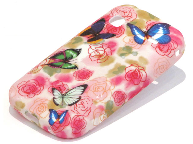 Butterfly Roses TPU Case Hoesje Samsung Galaxy Gio S5660