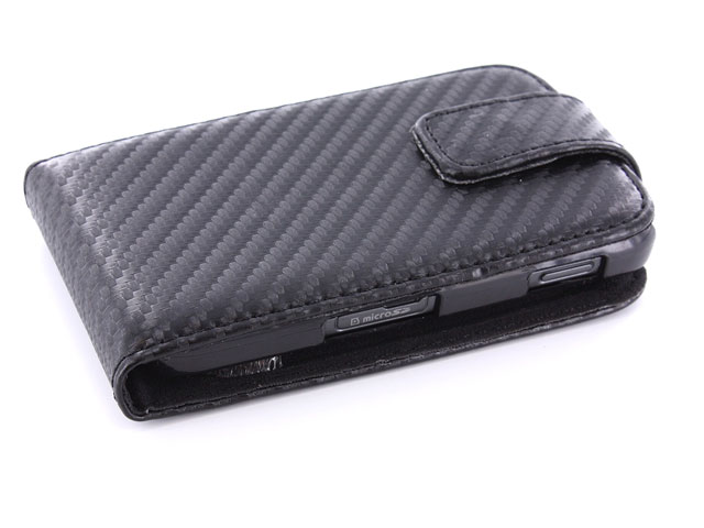 Carbon Leather Case Samsung Galaxy Gio S5660