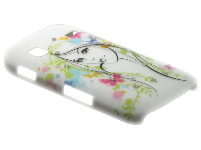 Crystals ''Beautiful Girl'' Case Samsung Galaxy Gio (S5660)