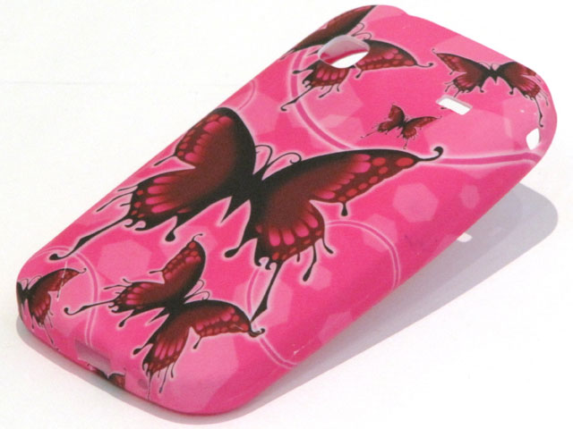 Dashing Pink Butterflies TPU Case Hoesje Samsung Galaxy Gio S5660