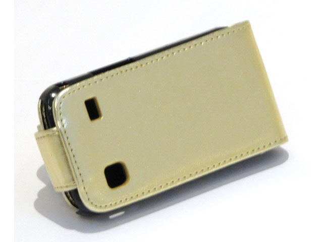 Golden Leather Case Samsung Galaxy Gio (S5660)