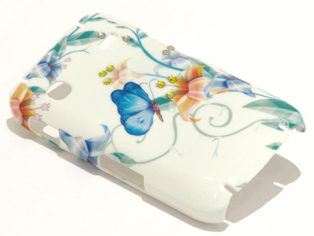 Crystals Butterfly Art Case Samsung Galaxy Gio S5660