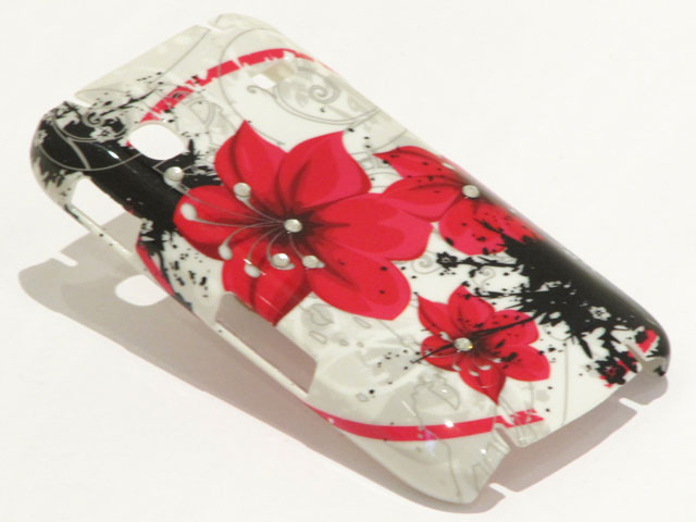 Crystals Red Flowers Case Samsung Galaxy Gio S5660