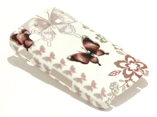 Crystals Sepia Butterflies Case Samsung Galaxy Gio S5660
