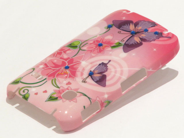 Crystals Sweet Butterflies Case Samsung Galaxy Gio S5660