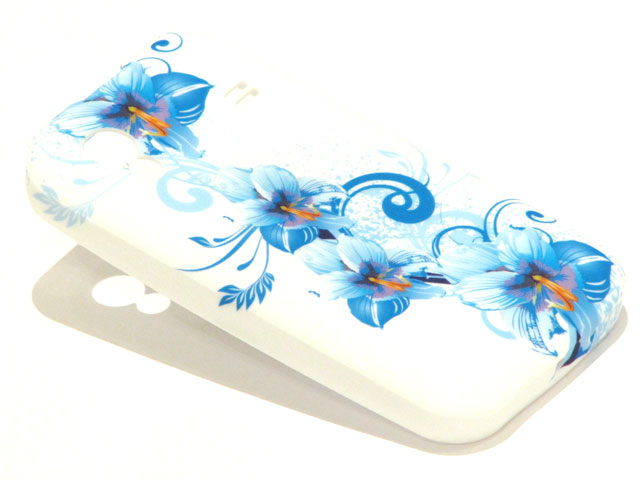 Blue Flowers TPU Case Hoesje Samsung Galaxy Ace S5830