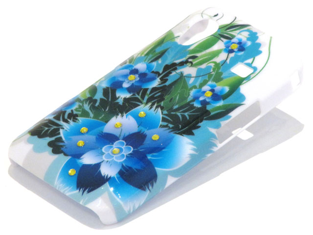 Crystals Tropic Flowers Case Samsung Galaxy Ace S5830