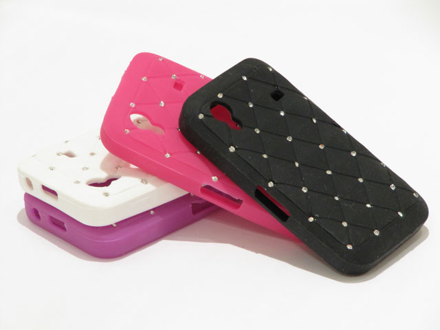 Diamond Silicone Skin Case voor Samsung Galaxy Ace