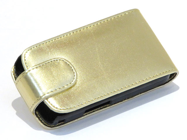 Golden Leather Case Samsung Galaxy Ace (S5830)
